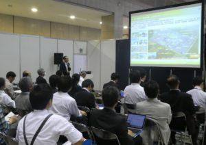JIMA2018 にて「福島ロボットテストフィールド」を紹介いたしました;
