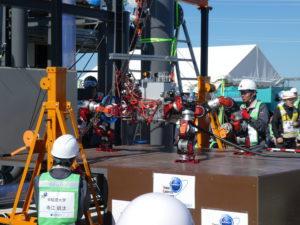 福島ロボットテストフィールドでImPACT-TRC第6回公開フィールド評価会が開催されました。;
