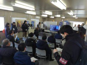 三次元空間の情報収集用ドローン隊列飛行(株式会社 eロボティクス福島、株式会社東日本計算センター);