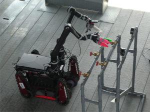 Public Demonstration Using a Mockup Plant (Tough Robotics Challenge, University of Aizu);