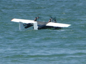 Flight Test of Flying Boat Drone on Sea (Space Entertainment Laboratory);